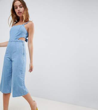 New Look Petite Denim Jumpsuit