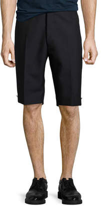 Thom Browne Trouser Shorts with Button Details, Navy