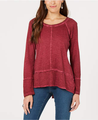 Style&Co. Style & Co Seamed High-Low Top, Created for Macy's