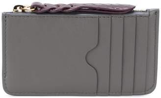 Alexander McQueen woven zip coin purse