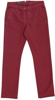 Loro Piana Burgundy Cotton Jeans for Women