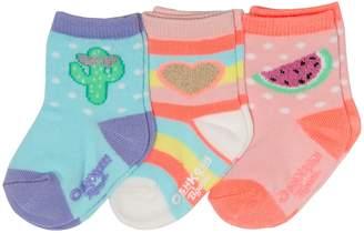Osh Kosh Oshkosh Bgosh Baby / Toddler Girl 3-pack Sparkle Crew Socks