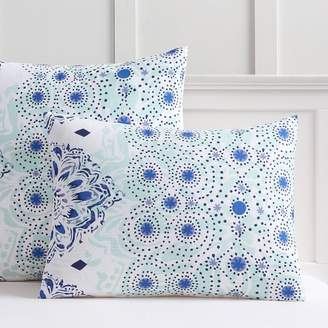 Pottery Barn Teen Kelly Slater Organic Ocean Floral Standard Sham, Blue Multi