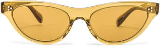Oliver Peoples Zasia Sunglasses in Dark Honey & Amaretto Gradient | FWRD
