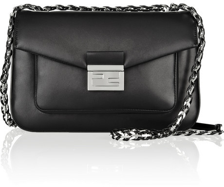 Fendi Be Baguette leather shoulder bag