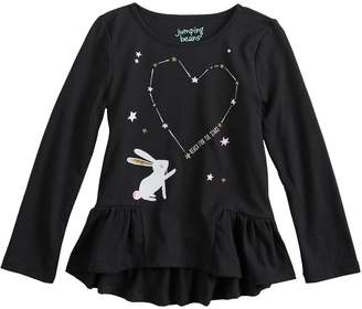 Toddler Girl Jumping Beans Reach for the Stars Tee