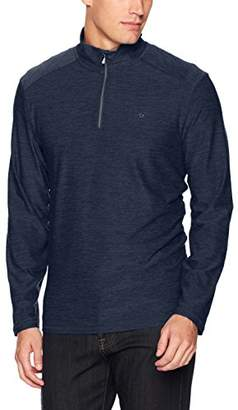 Calvin Klein Men's Quarter Zip Space Dye Pullover Sweater