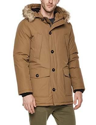 Royal Matrix Men's Outerwear Parka Down Jacket with Removable Faux Fur (