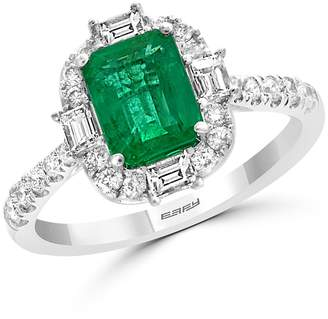 Bloomingdale's Emerald & Diamond Cocktail Ring in 14K White Gold - 100% Exclusive