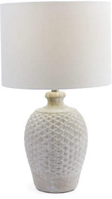 24.25in Ceramic Table Aged Finish Lamp