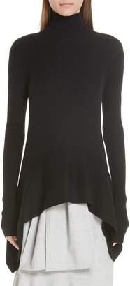 Adeam Silk Ribbed Turtleneck Sweater
