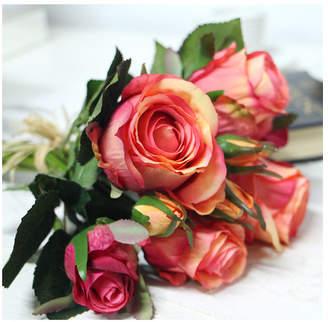 G Home Collection Luxury Silk Rose Bouquet Flower Floral Arrangements Flower