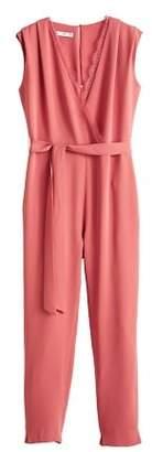 MANGO Lace v-neckline jumpsuit
