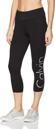 Calvin Klein Women's Midrise Gradient Dot Logo Crop Length Tight