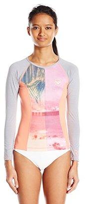 Roxy Women's Four Shore Long-Sleeve Rashguard $28.60 thestylecure.com