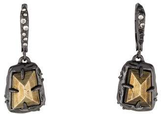 Alexis Bittar Pyrite & Crystal Drop Earrings