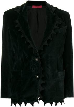 Di Liborio crushed velvet look blazer