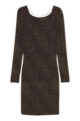 H&M Glittery Dress - Black/gold-colored - Women