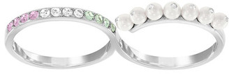 Swarovski Double Calista Ring - Size 7 $99 thestylecure.com