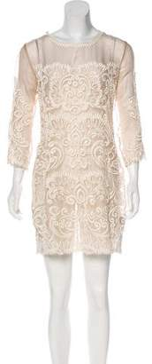Yoana Baraschi Embroidered Mini Dress
