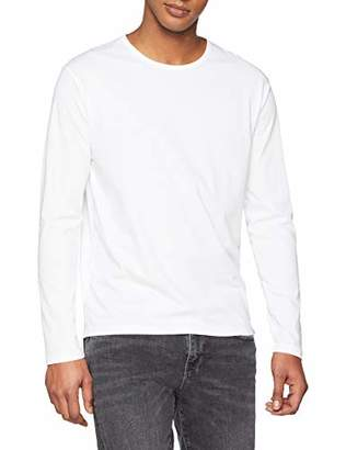 Marc O'Polo Men's's 830227652232 Longsleeve T - Shirt White 100, M