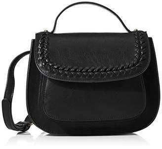 Keyli Ladies Vintage Vegan PU Leather Small Crossbody Purse with Braid flap Long Strap Satchel bag