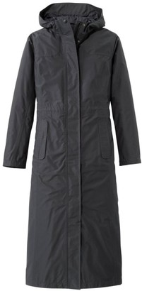L.L. Bean L.L.Bean Women's H2OFF Raincoat, Mesh-Lined Long