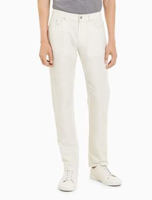 Calvin Klein slim fit linen cotton pants