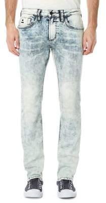 BUFFALO David Bitton Evan Washed Straight Leg Jeans