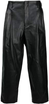 Comme des Garcons faux leather tapered trousers