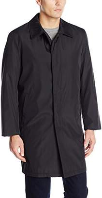 Perry Ellis Men's Poly Bonded Raincoat with Zip Out Liner