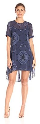 Donna Morgan Women's Trapeze Short Sleeve Woven Dre $55.99 thestylecure.com