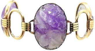 One Kings Lane Vintage Engel Brothers Carved Amethyst Bracelet - Little Treasures