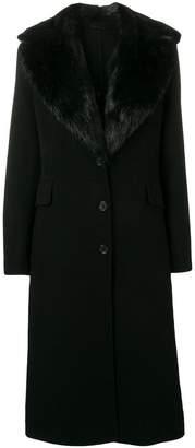 Ermanno Scervino coypu fur trim coat