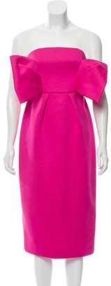 DELPOZO Strapless Knee-Length Dress w/ Tags Strapless Knee-Length Dress w/ Tags