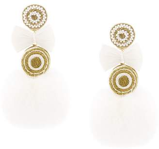 Ranjana Khan pompom earrings