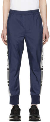 Neil Barrett Navy Retro Vision Track Pants