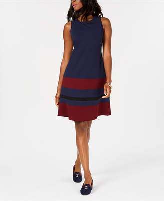Charter Club Petite Colorblocked Dress, Created for Macy's