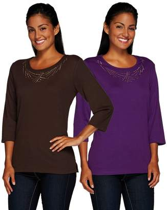 Factory Quacker Copper Crush Set of 2 Embellished T-shirts