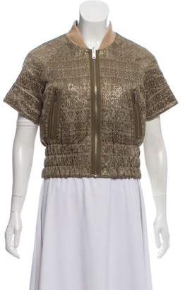 Marc by Marc Jacobs Metallic Short Sleeve Jacket