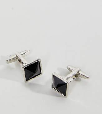 Asos DesignB London DesignB Square Cufflinks & Collar Tips Exclusive To