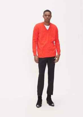 Calvin Klein V-Neck Double Drop Jumper