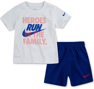 d98bb36f0 Nike Toddler Boys 2-Pc. Dri-fit Heroes Graphic T-Shirt &