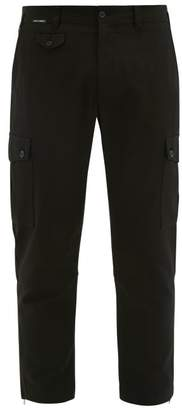 Dolce & Gabbana Cotton Blend Cargo Trousers - Mens - Black