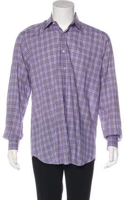 Etro Plaid Dress Shirt