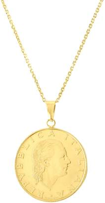 Sphera Milano Women's 14K Yellow Gold 200 Lire Coin Pendant Necklace