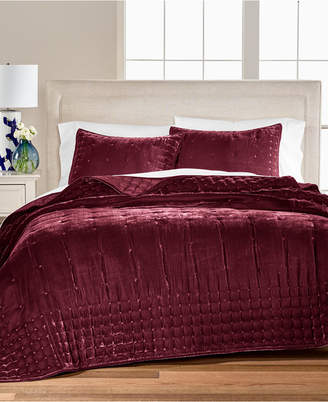 Martha Stewart Collection Tufted Velvet Full/Queen Quilt