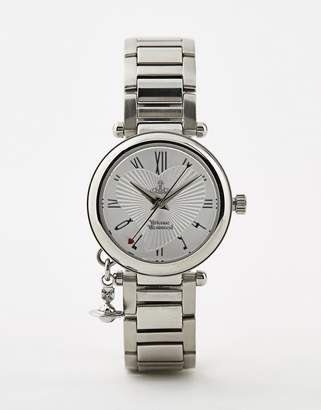 Vivienne Westwood Orb bracelet watch in silver