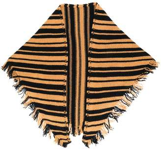 Danielapi fringed striped scarf