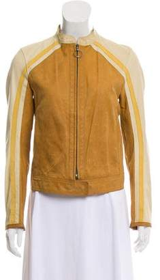 Prada Sport Colorblock Leather Jacket